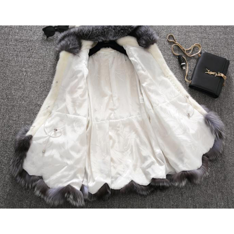 En Slim Zipper Vestes Blanc Femmes Manteau Haute Manteaux À Pour Hiver Lapin Femelle Mode Lu473 Fausse Chaud De Long Faux Capuchon Qualité noir Fourrure Bz8xCHFq