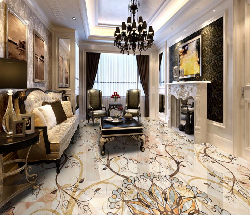 ФОТО 3d flooring pvc pattern custom 3d photo wallpaper for living room bedroom pvc flooring roll