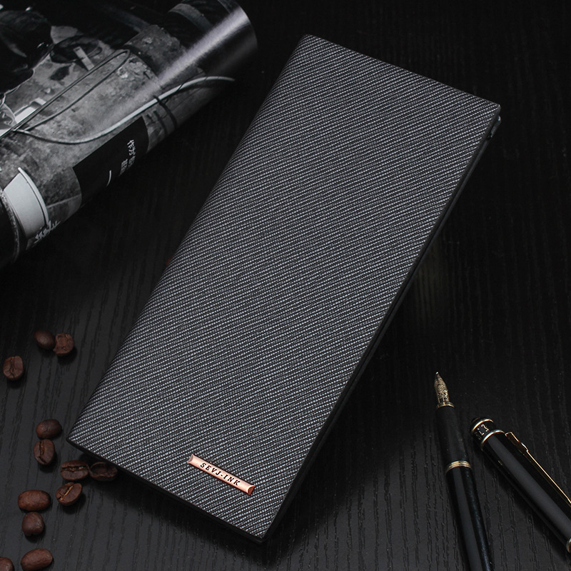 Fashion Slim Men's Leather Wallets Male Thin Famous Brand Wallet Purse Clutch with Card Holder for Men bogesi men s wallets famous brand pu leather wallets with wallet card holder thin slim pocket coin purse price in us dollars