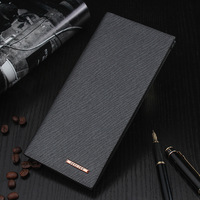 Fashion Slim Men's Leather   Wallets   Male Thin Famous Brand   Wallet   Purse Clutch with Card Holder for Men