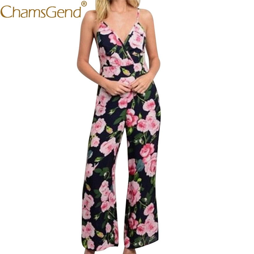 b408fbd06f6 Detail Feedback Questions about Free Shipping Women Lady Fashion Halter  Floral Print Sleeveless Jumpsuit Summer Overalls Rompers 80621 Drop Shipping  on ...