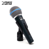 2PCS Supercardioid Beta58a Switch Vocal Karaoke Handheld Dynamic Wired Microphone For BETA 58A Mic Mike Microfone