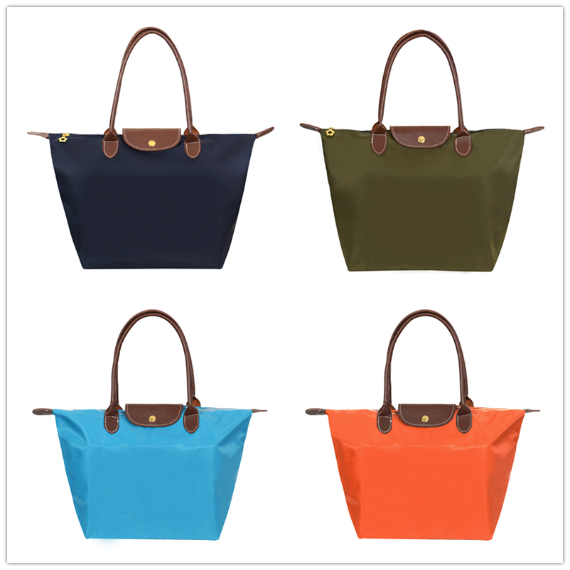 2017 New Long Women Champagne Shoulder Bag Paris Style Women's Handbag  Waterproof Dumplings Champping Folding Bag