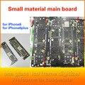 Para iphone 6 plus 5.5 placas de circuito pequeño tablero, placa madre placa base ranura para aumentar, asiento cable sub-botones originales