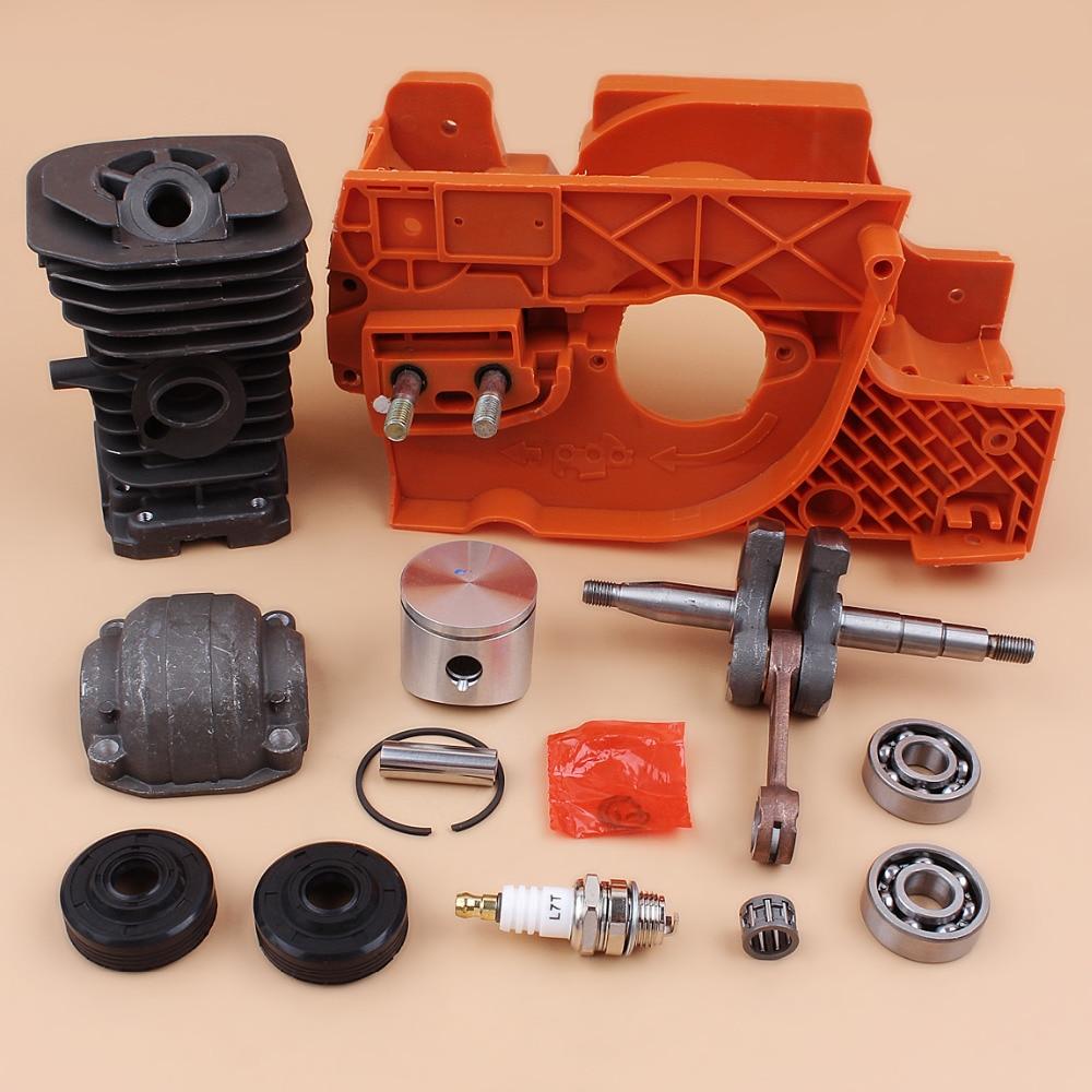 Crankcase Crankshaft & 38mm Cylinder Piston Bearing Oil Seal Kit Fit HUSQVARNA 137 142 Chainsaw Engine Motor Replacement Parts