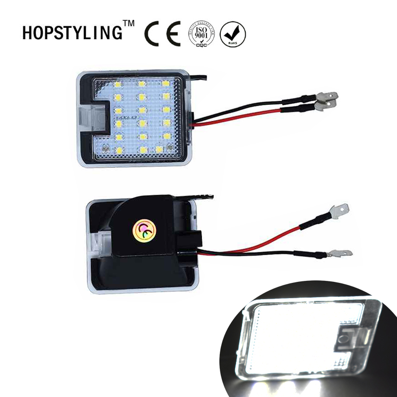 Hopstyling2x for Ford LED Side under Mirror Puddle Light led under speillys For Focus KUGA Auto led pærer lampebelysningsdel