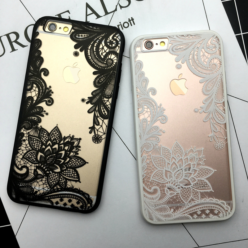 Kerzzil Flower Lace Full edge Protection Mandala Vintage Case For font b iPhone b font 7