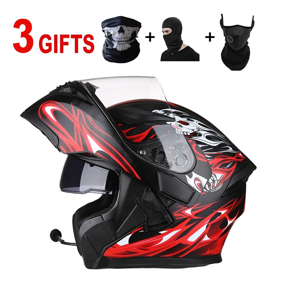 Casque moto accessoires casque casco moto Bluetooth kask led DOT pour kawasaki ktm exc 450 suzuki yamaha mt 09 bmw s1000rr