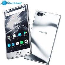 Origine DOOGEE de MÉLANGE Mirrow Argent Smartphone Android 7.0 Double Caméras 5.5 Pouces MTK Helio Octa Core 6 GB + 64 GB LTE 3380 mAh P25
