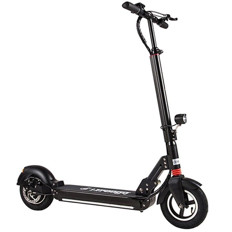 Livraison gratuite es-10 S 10 pouces 500 W pliant Scooter électrique antichoc LongBoard planche à roulettes deux roues 2.6Ah batterie EU Version