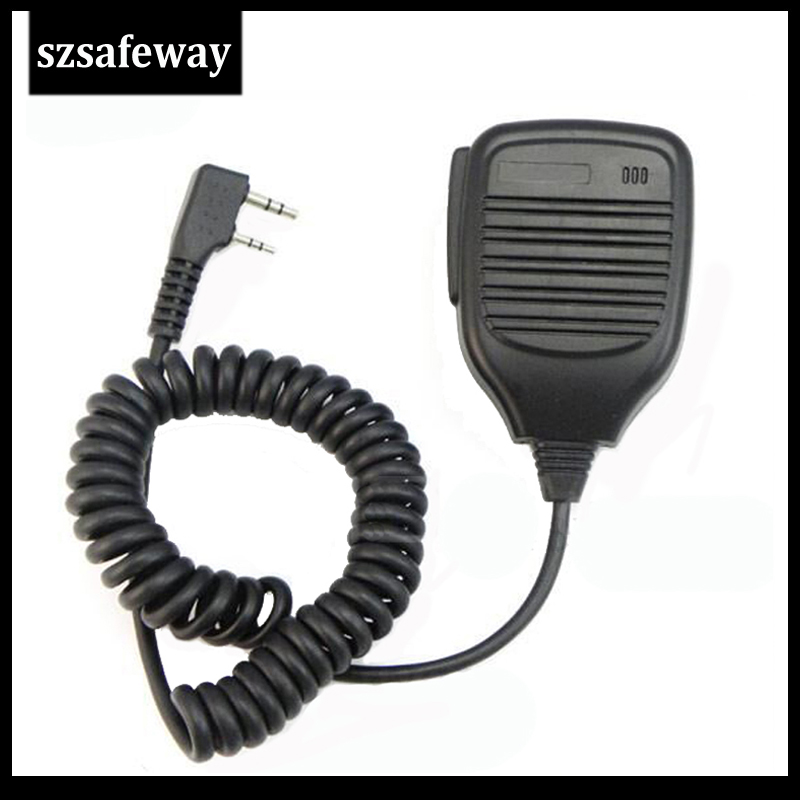 KMC-21 Walkie Talkie Remote Speaker Mic Microphone Ppt For Kenwood And For Baofeng Radio TK-2170/3170 Free Shipping