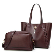 2pcs/Set Women Composite Bags High Quality Ladies Handbags PU Leather  Female Shoulder Messenger Casual Big Tote Bag Bolsa