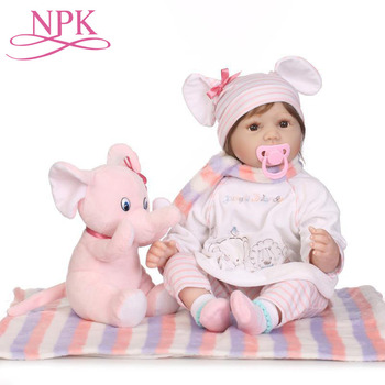55CM Full Silicone Soft Reborn Baby Dolls Girl Bebes Reborns Doll with Clothes & Toy & 20-22 inch Rebirth Baby Doll Clothes