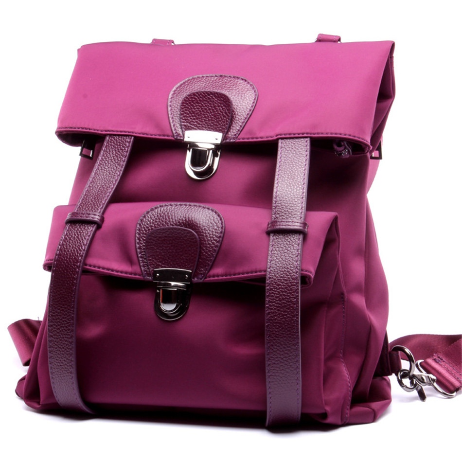 2018 Fashion backpack Oxford with cowhide design women school backpack for Teenagers Large Capacity Laptop Mochilas Escolares fashion women s backpack with color block and stripe design