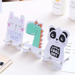 Best Wooden Mobile Phone Stand Holder Cartoon cute Tablet Stands Universal Holder for iPhone X / 8/7/6/5 Plus Samsung Phone ipad