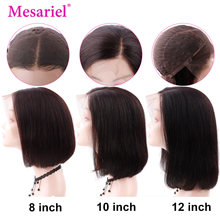 Mesariel Lace Front Human Hair Bob Wigs For Black Women Brazilian Wig 13*4 Preplucked Bob Lace Front Wigs Remy Hair(China)