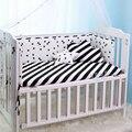 1 pc Algodão Cama de Bebê Crib Bumpers Bumper Protetor de Berço Conjuntos de Cama Em Torno de Bebê Forro preto Triângulo branco dots árvores 200*28 cm