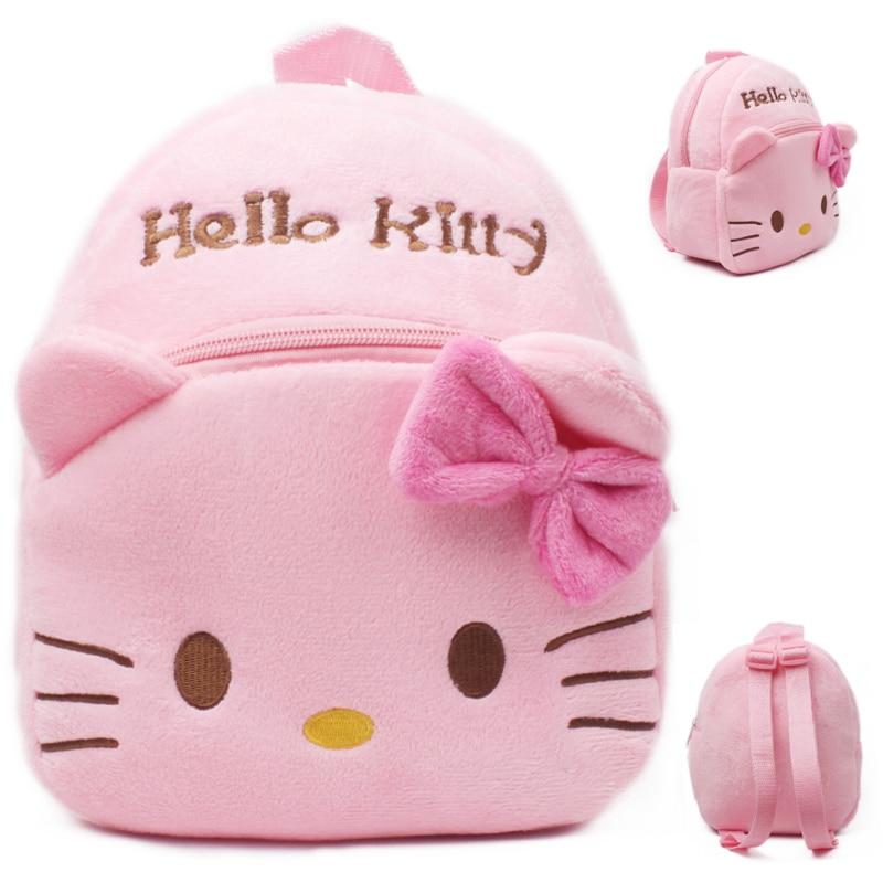 Hello Kitty Mochila Bebe Cartoon Kids Plush Backpack Toy School Bag Children's Gifts Baby Backpack Boy Girl Baby Student Bags