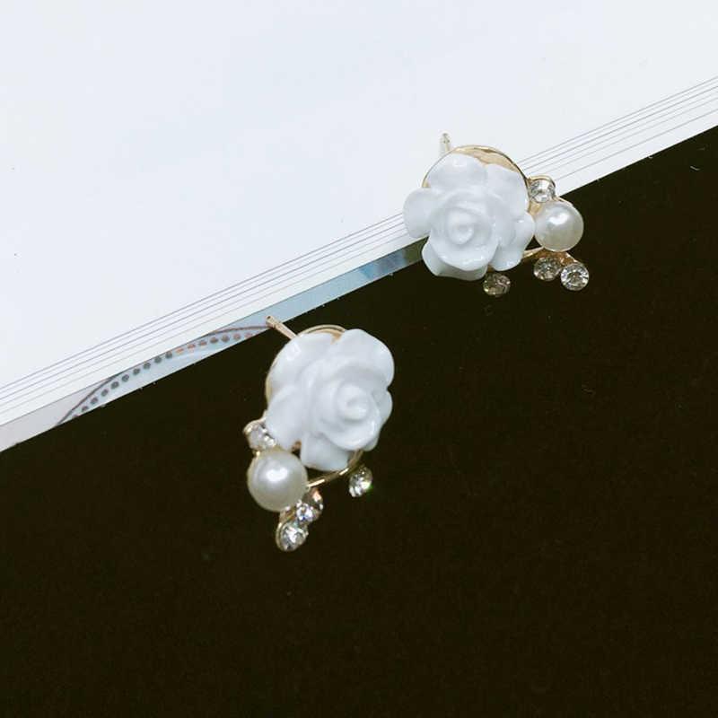 Gros bijoux coréens boucles d'oreilles exagérées nouveau Style coréen femmes Ol Rose Rose Imitation perle cristal boucles d'oreilles 2019