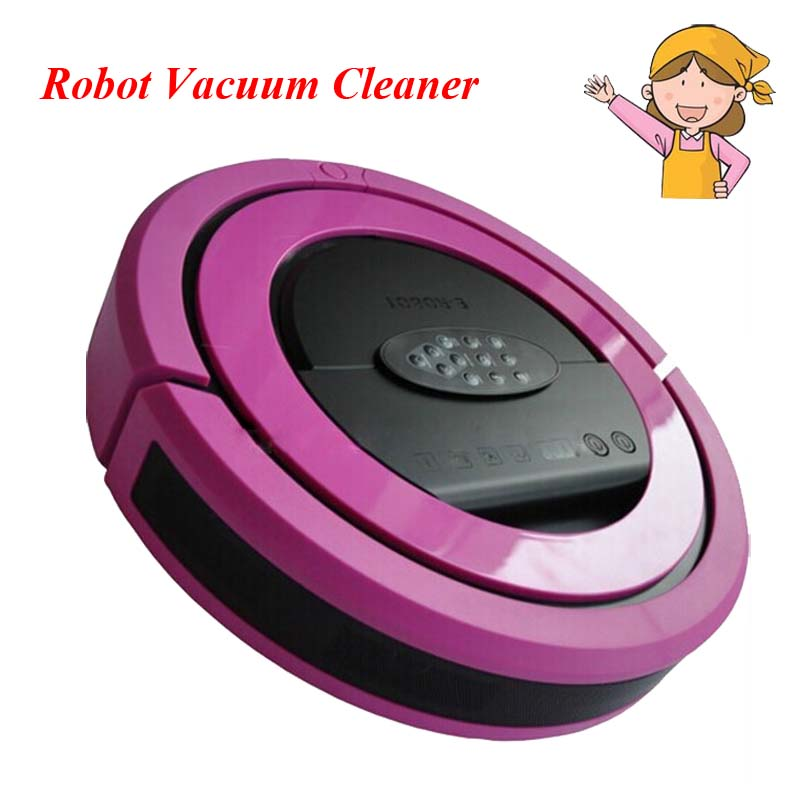 Colorful Wireless Top-Grade Multi-functional Robot Vacuum Cleaner with Ultrasonic Wall, 2 Rolling Brushes QQ5(EV01) for robot vacuum cleaner qq6 2pcs rolling brushes with new aluminum alloy steel material