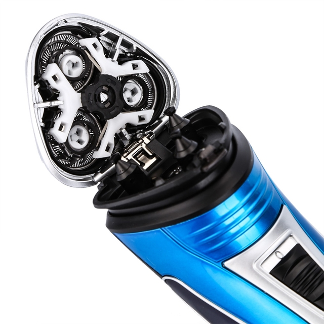 Kemei 220V Rechargeable Electric Shaver 3D