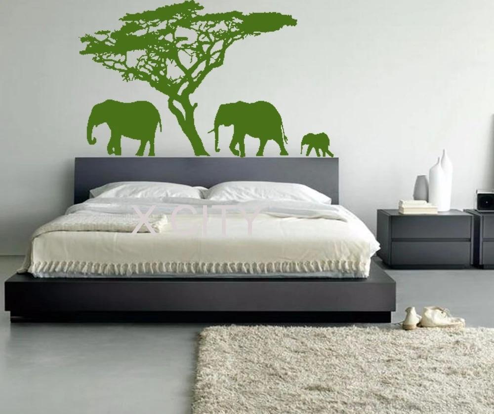 Autocollants Muraux Elephant Cool Animal Safari Zoo Hall Living Art Autocollant Vinyle Pièce