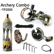 TP2000 Archery acccessories Combo set for compound bow archery upgrade,Fiber Optic LED Sight Light,bow stabilizer