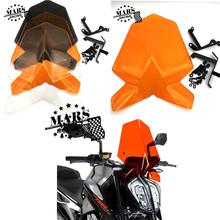 Motocykl sportowy szyby przedniej szyby daszek Viser pasuje do Duke 125 390 2017 2018 2019 2020 Duke125 Duke390 podwójna bańka tanie tanio HUIXIURACING CN (pochodzenie) 1inch Plexiglass Do motocykli KTM Przednie szyby deflektory dachowe 0 4kg KTM 125 390