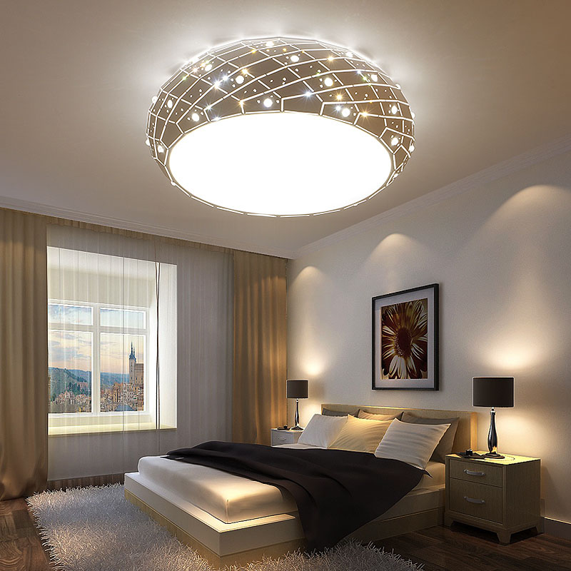 US $209.0 56% OFF|Round led ceiling lamp warm bedroom light creative study  restaurant lights children room lights simple living room lamps-in Ceiling  ...