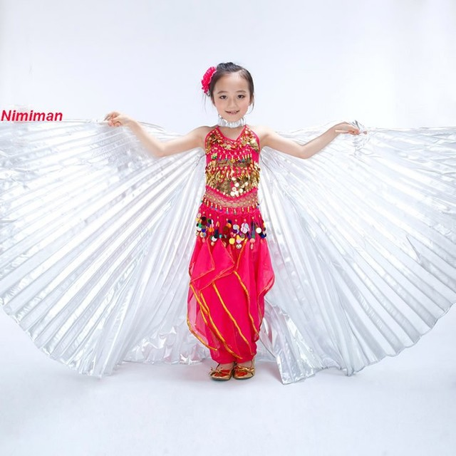 2016 Girls Handmade Belly Dance Costume Children Angel Isis Wings