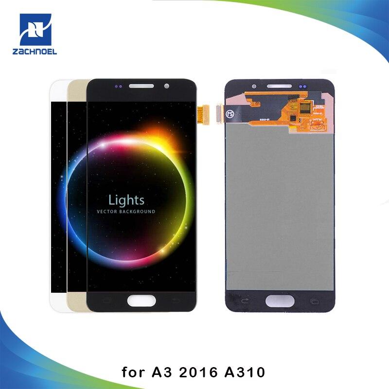 Pour SAMSUNG Galaxy A3 2016 LCD A310 A310F Affichage Écran Tactile Digitizer Remplacements A310F Affichage Pour Samsung A3 2016 Écran
