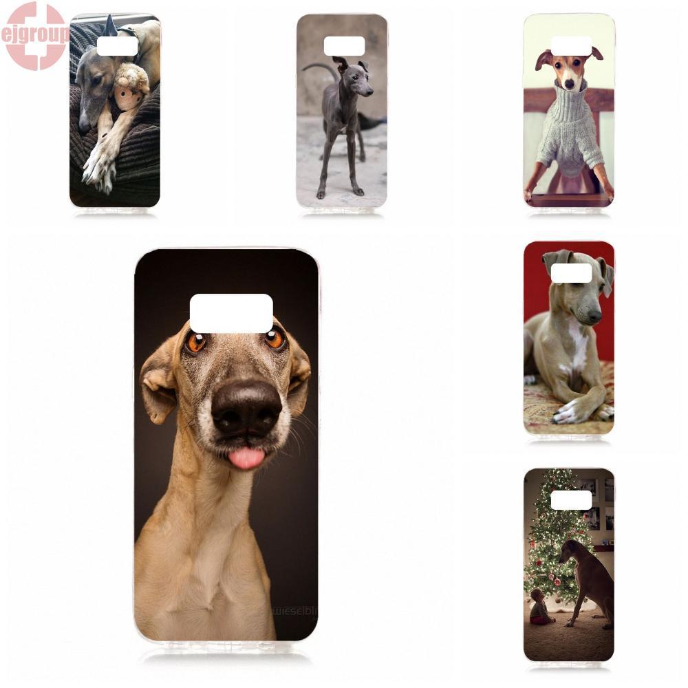 EJGROUP Soft TPU Silicon Accessories Case For Samsung Galaxy S8 5.8 inch G950 G950F SM-G9500 Greyhound Dog Puppy Puppies