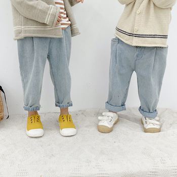 Boys Jeans Children Clothing 20196 Spring Korean New Baby Boys Denim Pants Kids Boys Casual Loose Jeans Baby Cowboy Pants 2-7Y 1