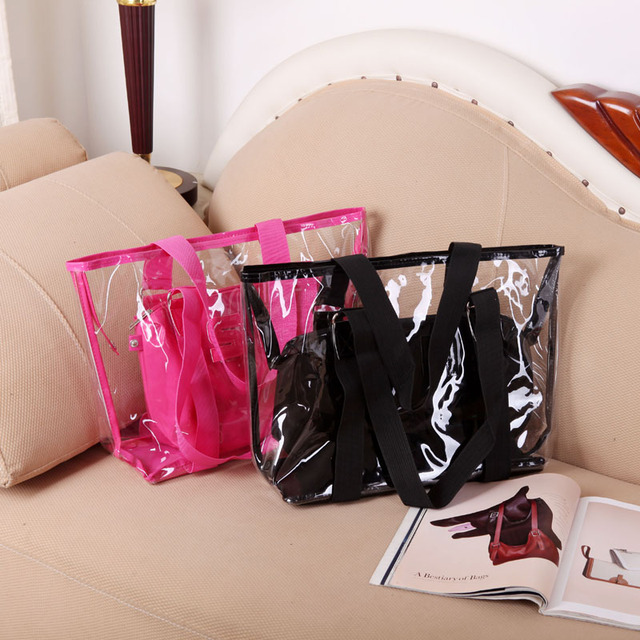 2013 new Korean version of waterproof transparent beach bag plastic bag handbag shoulder bag