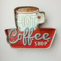 กาแฟร้อนนำสัญญาณวินเทจคา