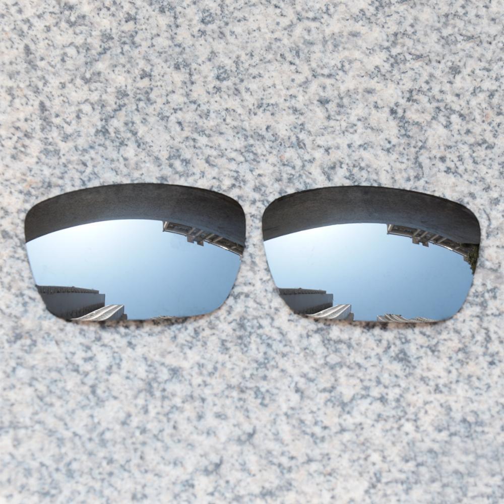 Wholesales E.O.S Polarized Enhanced ReplacementLensesforOakleyFuel Cell Sunglasses - Silver Chrome Polarized Mirror