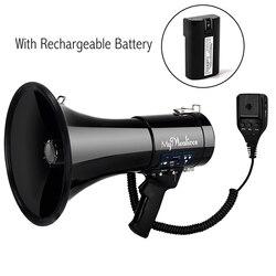 Tragbare Megaphon 50 Watt Power Megaphon Bullhorn Stimme Und Sirene/Alarm Modi Mit Volumen Control Und Strap tragbare lautsprecher