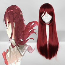 купить Anime Love Live! Sunshine!! Cosplay Wigs Riko Sakurauchi Cosplay Wig Heat Resistant Synthetic Wig Hair Halloween Carnival Party дешево