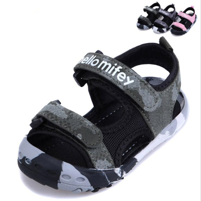 MHYONS 2019 summer new beach shoes sandals childrens baotou sandals men and women baby camouflage soft bottom toddler sandalsMHYONS 2019 summer new beach shoes sandals childrens baotou sandals men and women baby camouflage soft bottom toddler sandals