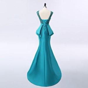 Image 2 - FADISTEE yeni varış zarif uzun elbise abiye parti vestido de noiva resmi aplikler kristal uzun tarzı
