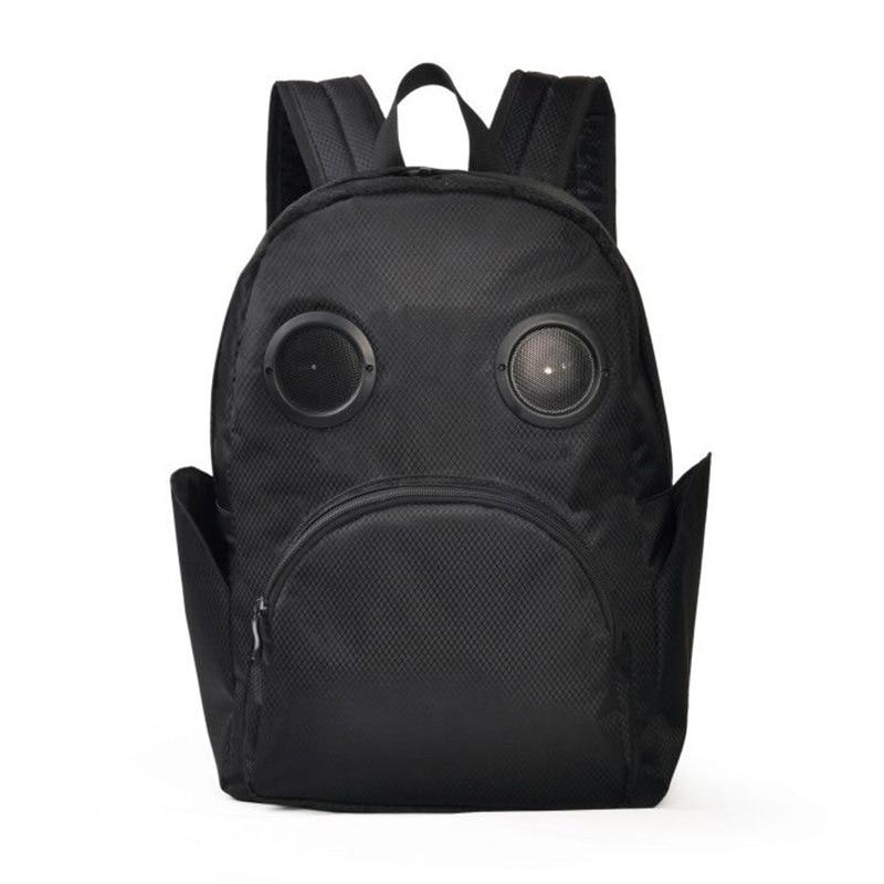 Sac à dos noir pour haut-parleur sac à dos cartable étanche avec Bluetooth Audio gothique grande capacité unisexe Punk A796
