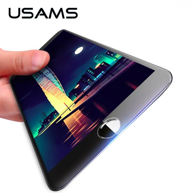 USAMS 0.3 мм 9 H Углеродного Волокна 3D Закаленное Стекло для iPhone 6 6 s Screen Protector Защитная Пленка Премиум Версия