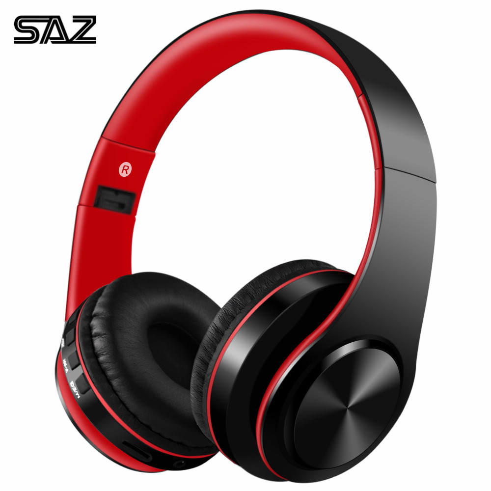 SAZ 422 Bluetooth headphone sport wireless headphone support TF card For compute iphone Xiaomi Folding headset