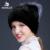 2016 nuevas mujeres del invierno del sombrero de piel de visón con siliver color de piel de visón de piel de zorro negro