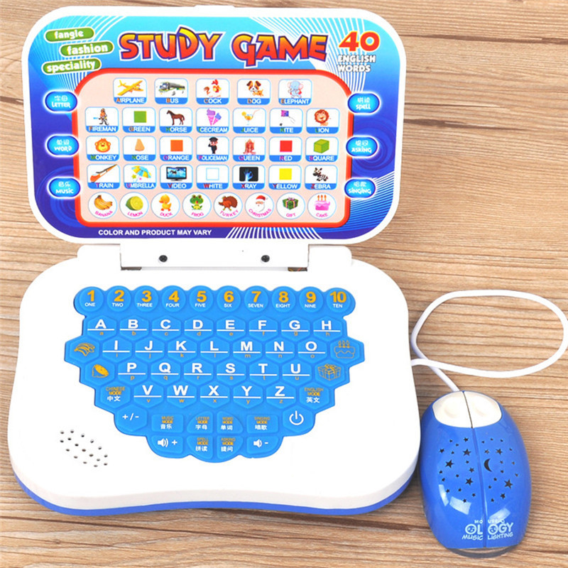 New Child Learning Machine With Mouse Computer Learning Education Machine Tablet Toy Gift Random Color