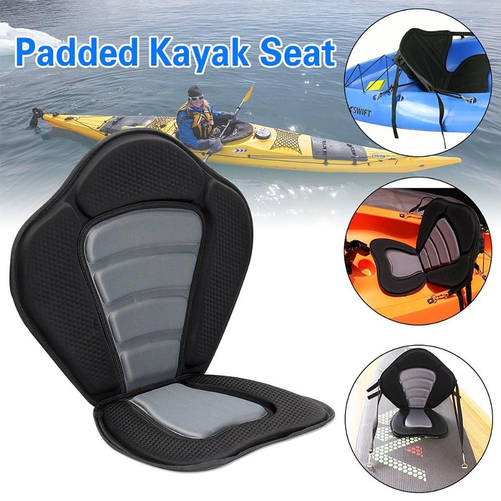 Adjustable Padded Kayak Seat Detachable Back Bag Canoe Backrest Laminated Kayak Boat Cushion With Sundries Bag