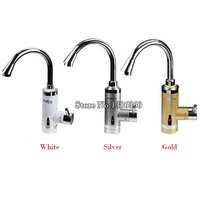 3Colors 220V 360 Rotation Heater Electric Faucet Kitchen Faucet Fast Heat Speed Hot Water Heater Instant Water Tap Water Heating