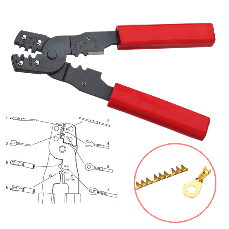 1pc Practical HS-202B Crimping Pliers Mini Wires Terminals Crimpper Pliers For Cutting Tools portable bluetooth speaker wireless alarm clock music stereo soundbox time display fm radio tf card altavoz speakers for phones