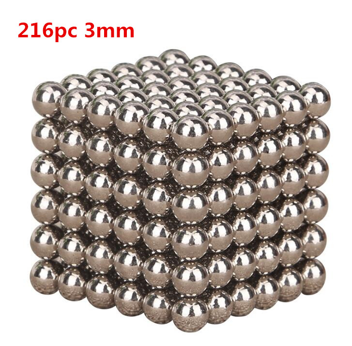 hot sale 216pcs Silver Color Magic Cube Balls Toys Anxiety Stress Adults Kid Metal Toy free shipping hot sale 1000g dynamic amazing diy educational toys no mess indoor magic play sand children toys mars space sand
