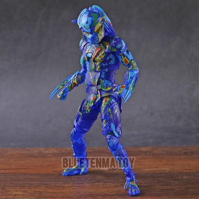 Predador NECA Filme Predator Térmica Visão Fugitivo Collectible Action Figure PVC Modelo de Brinquedo Decoração Boneca